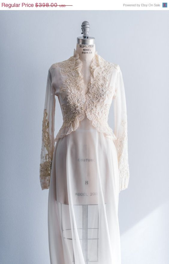 25 OFF SPRING CLEANING New Listing 1960s Cream by ShopGossamer, $298.50