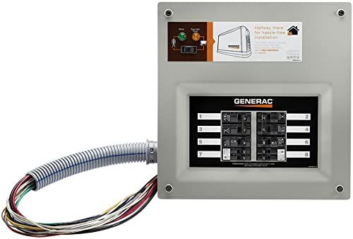 New Generac 9854 Homelink 50 Amp Indoor Pre Wired Upgradeable Manual Transfer Switch For 10 16 Circuits Patio Lawn Garden 543 9