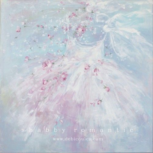 beautiful new romantic shabby chic style large tutu paintings available at wwwdebicoulescom beautiful shabby chic style