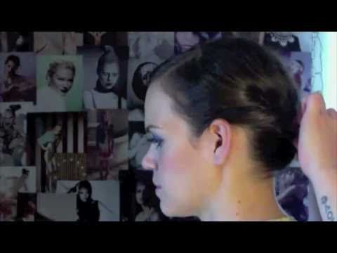How to: Super quick and easy updo for short, medium, and long hair.  Even I can do this!