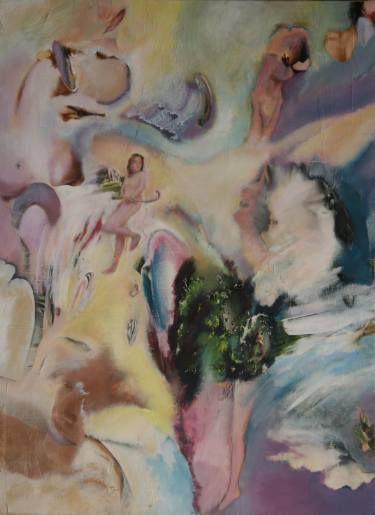 "Saatchi Art Artist Jim Abuan; Painting, ""Bicycle Handlebars"" #art"