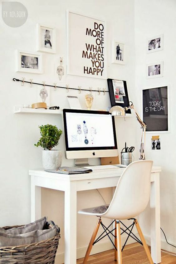 small study space for my new (small) home .. Sweet Harmonie: HOME OFFICE