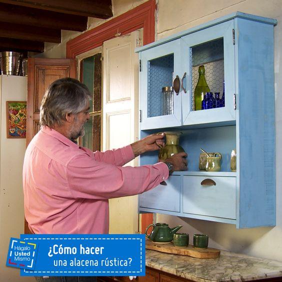 Aprende c mo hacer una alacena r stica para tu cocina - Como hacer una puerta rustica ...