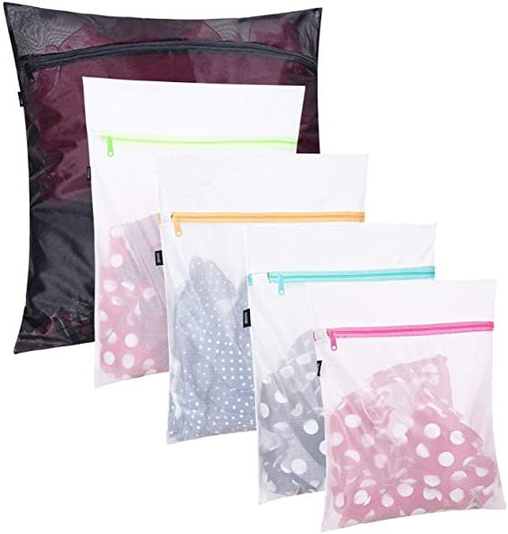 Amazon.com: Set of 5 Mesh Laundry Bags-1 Extra Large, 2 Large & 2 Medium Bags Laundry,Blouse, Hosiery, Stocking, Underwear, Bra Lingerie, Travel Laundry Bag: Home & Kitchen