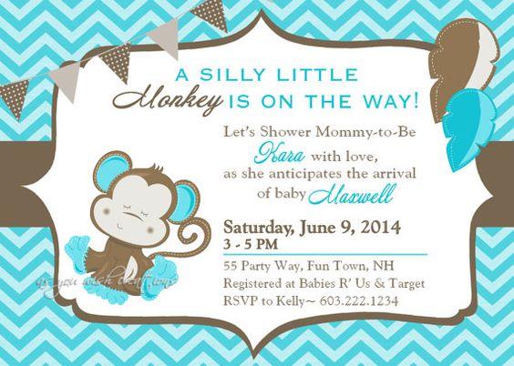 Invitaciones de baby shower Invitaciones para fiesta shower and