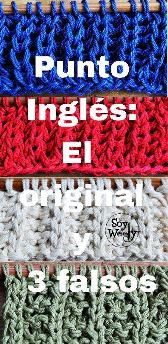 Cómo Tejer El Punto Inglés Original Y Falsos 3 Versiones Soy Woolly Punto Reversible Dos Agujas Tejer Dos Agujas Tejer Dos Agujas Patrones