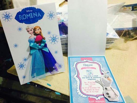 Tarjeta de invitación frozen