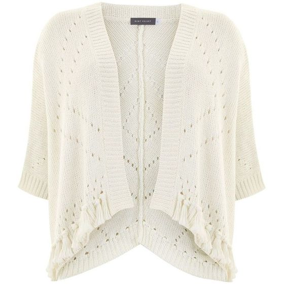 Mint Velvet Cream Tape Kimono Cardigan (175 CAD) ❤ liked on ...