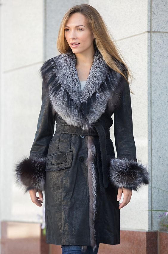 The Jovanna Coat is crafted in distressed lambskin leather with a hint of…