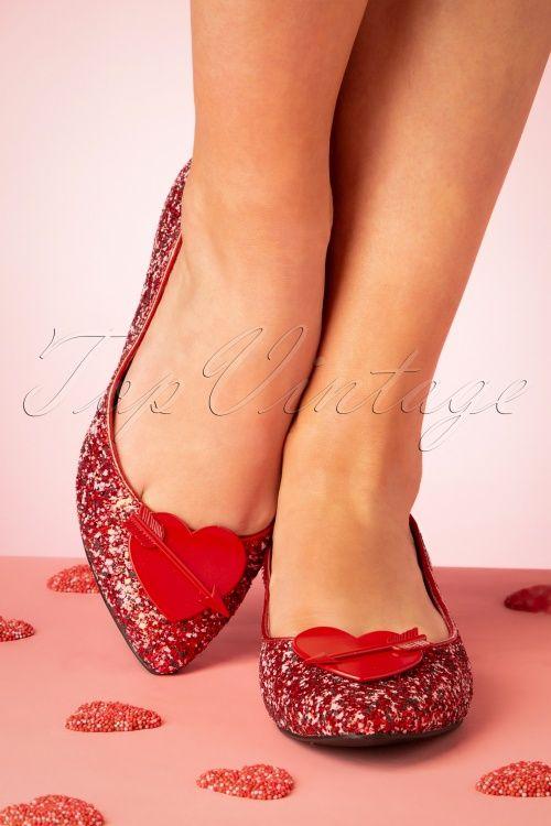 Via Pinky Tatiana-76 Womens Glitter Toe Metal Adornment Ballet Flat