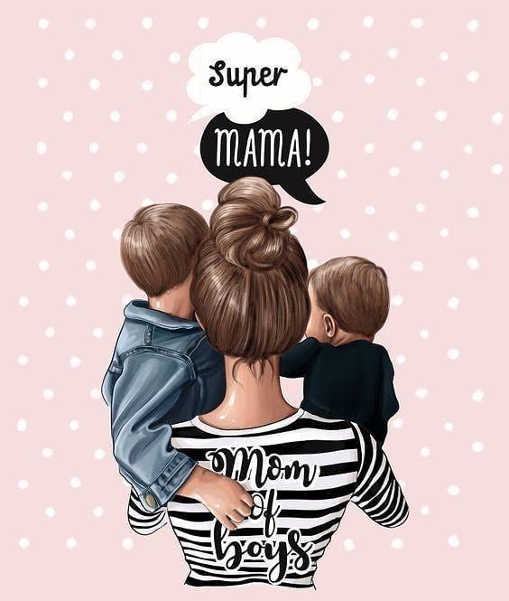Super Mama Dibujo Para Mama Dibujo Madre E Hija Dibujo De Bebe