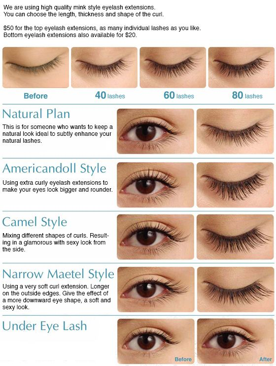 Eyelash Extensions Different Lengths Styling Hair Extensions