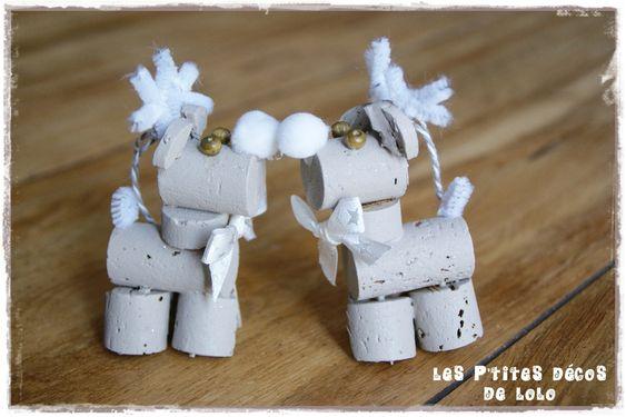 diy no l r cup faire des petits rennes avec des bouchons en li ge les p 39 tites d cos de lolo. Black Bedroom Furniture Sets. Home Design Ideas