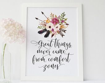 The best is yet to come Wall art print quote print by RootsPoster
