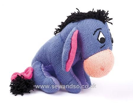 Lacy Knit Patterns : Cuddle Eeyore - Knitted Toy Kit Knitting Pinterest Disney, Toys and Bur...