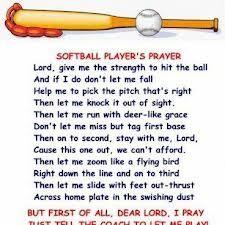 softball quote photos | softball # prayer # softball player prayer # softball saying