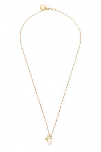 Super stylische Halskette mit einem Skull-Anhänger in Gold von Hoffnungsträger.