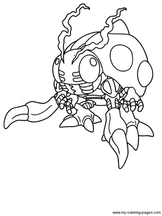 Digimon coloring pages and coloring on pinterest for Digimon coloring pages