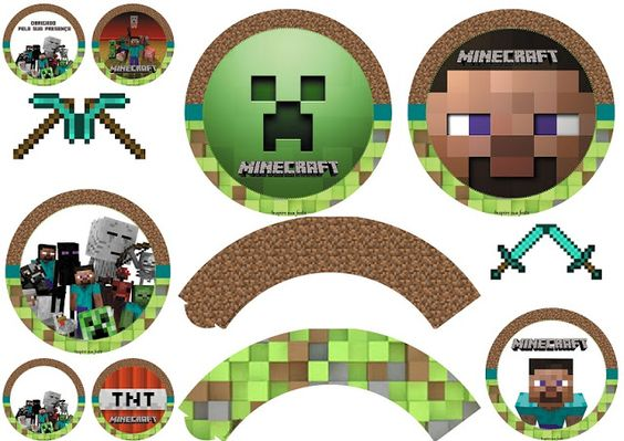 Minecraft Party Free Printable Wrappers And Toppers Minecraft Party Decorations Minecraft Party Minecraft