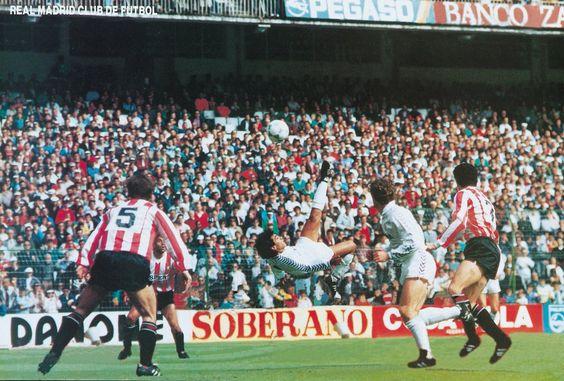 10 de abril de 1988 HUGO SÁNCHEZ MARCA AL LOGROÑÉS