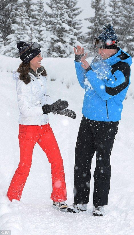3/7/2016 Duke and Duchess of Cambridge took Prince George, two, and 10-month-old Princess Charlotte on first ski holiday