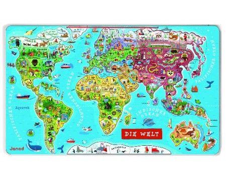 Magnet-Puzzle Weltkarte, 92-teilig von Janod