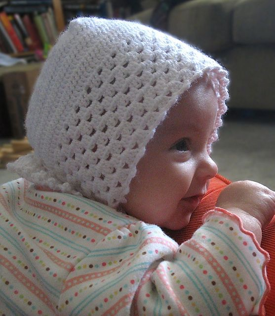 Crochet Baby Bonnet Pattern Free : Baby bonnet pattern, Bonnet pattern and Baby bonnets on ...