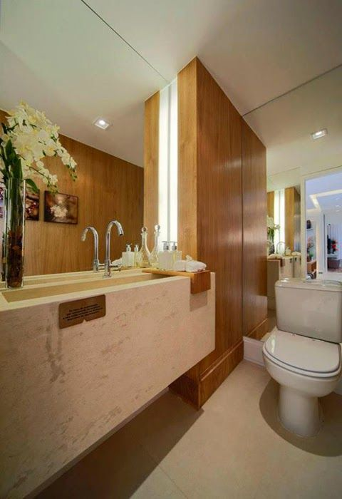 30 lavabos pequenos e modernos veja dicas de como ousar for Antecomedores modernos pequenos