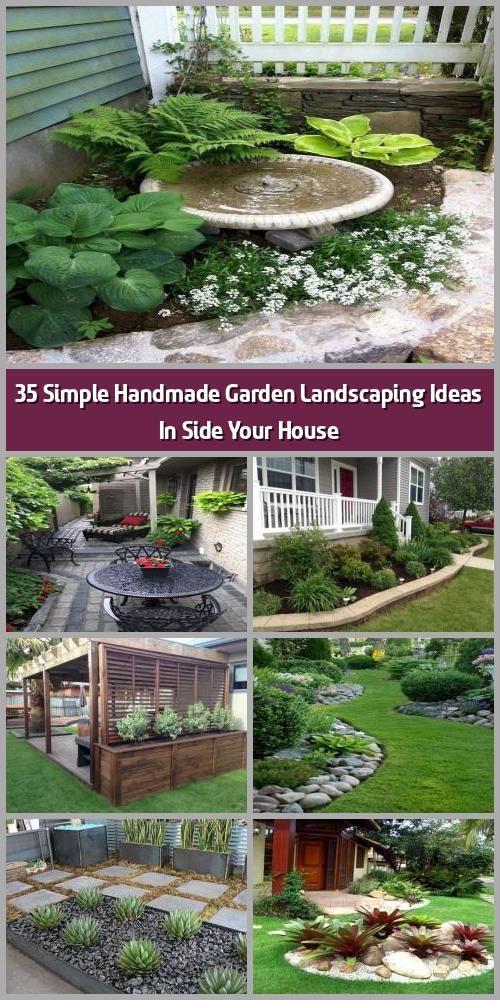 35 Simple Handmade Garden Landscaping Ideas In Side Your House Landscape Garden Design Can Be Very Pricy In 2020 House Landscape Garden Landscaping Garden Design