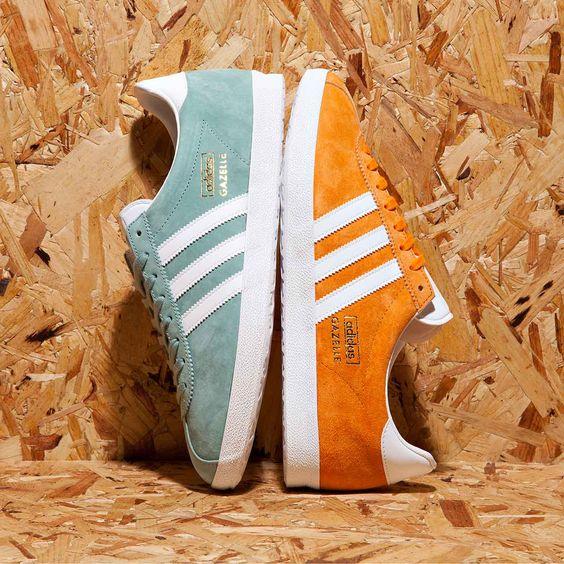 Adidas Beige Neon Orange
