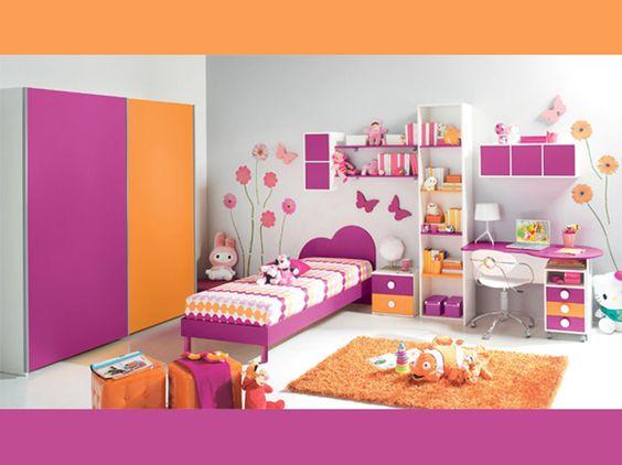 CAMERETTA CREAMY Una colorata proposta per bambine: una cameretta ...
