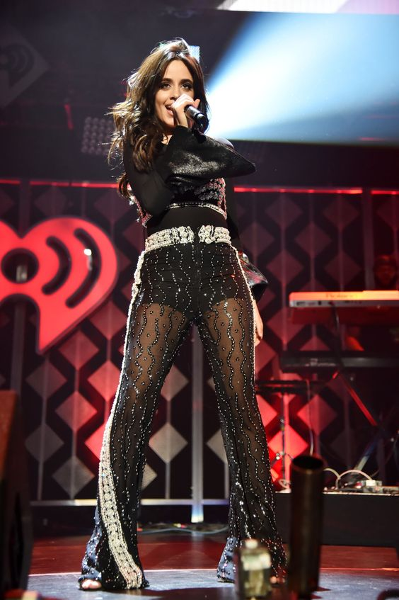 Camila Cabello performing at Z100's 2017 Jingle Ball in NYC
