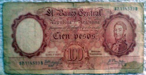 100 pesos argentino