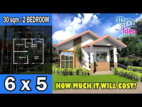 17 House Design 30sqm Simple House Plan With Estimated Cost Youtube Simple House Plans Small House Design Plans House Plans