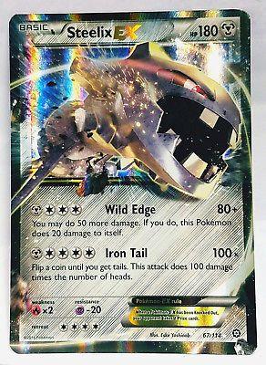 Mint Pokemon Steelix EX XY Steam Siege 67//114 Near Mint