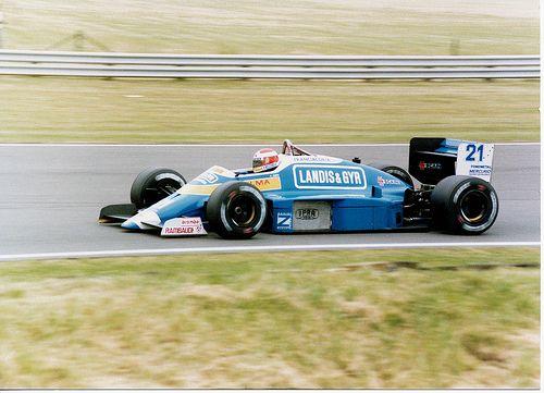 1987 GP Wielkiej Brytanii (Silverstone) Osella FA1G - Alfa Romeo (Alex Caffi)