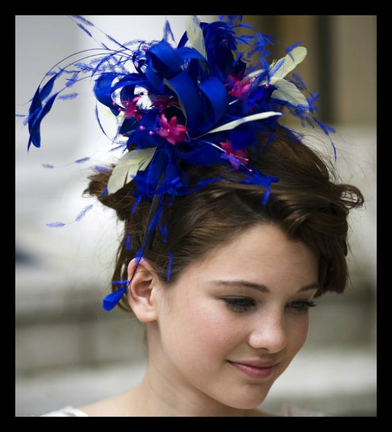 Lydia  Colourful Feather Fascinator with Small by JustFasinating, £79.99