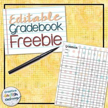 FREE Polka Dot Gradebook Template