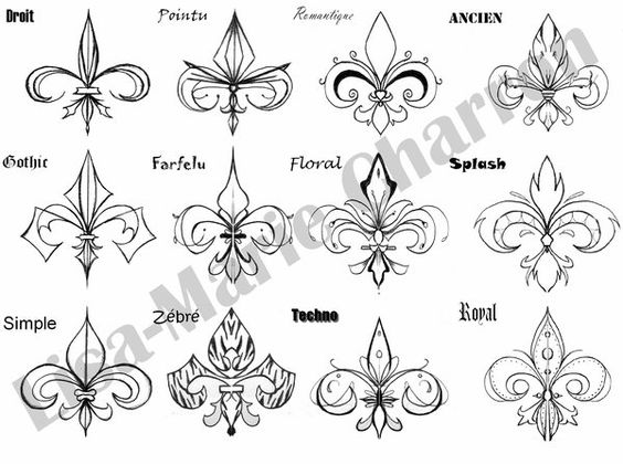 fleur de lis tatouages and google on pinterest. Black Bedroom Furniture Sets. Home Design Ideas
