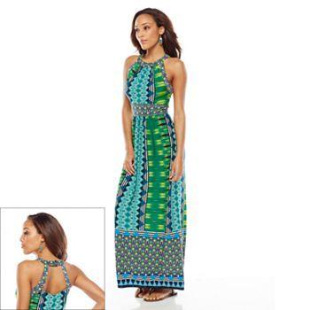 Ronni Nicole Geometric Halter Maxi Dress - Women&-39-s -Kohls - Style ...