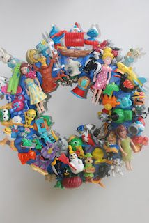 Wreath with small toys.