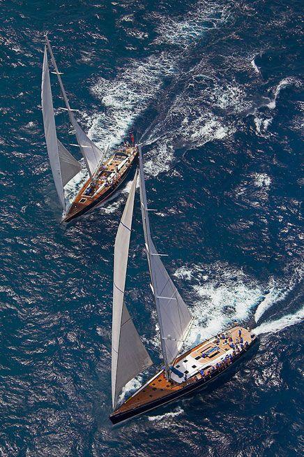 Yachts in St Barths (Photo courtesy of Laurent BENOIT / Les Voiles de Saint Barth ).