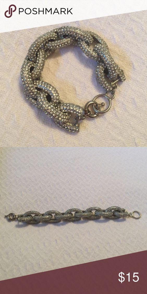 """Rhinestone link bracelet 8.25"""" long Jewelry Bracelets"""