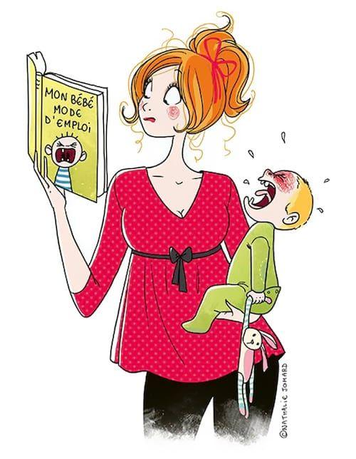 Dessin Qui Montre Une Maman Lisant Un Livre De Puericulture