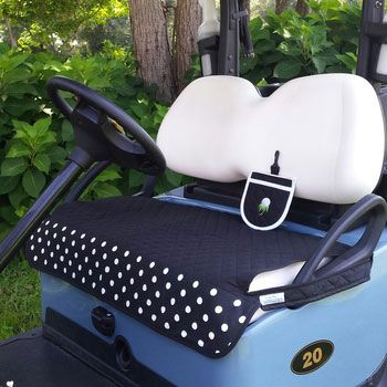 Keep your cart seat clean, dry, comfortable and stylish with our Golf Chic Bags Quilted cart seat cover! Durable and washable. Hand-crafted in North Carolina! #golfaccessories #lorisgolfshoppe