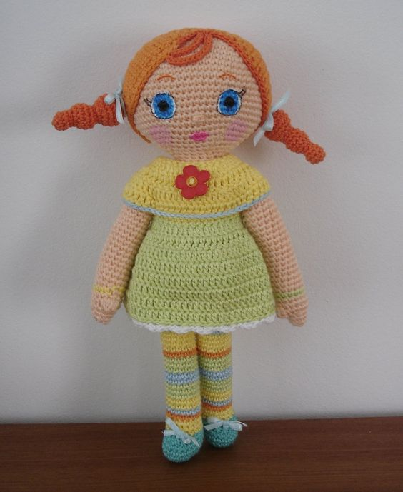 Crochet Amigurumi Doll Tutorial : Amigurumi Girl Doll - FREE Crochet Pattern / Tutorial ...