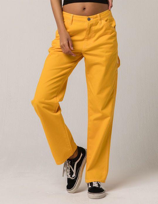 Dickies Yellow Carpenter Pants Women Pants Outfit Women Pants