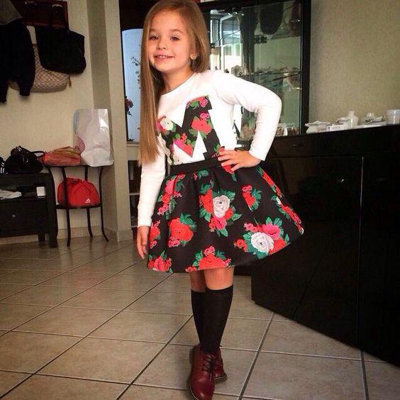 Black socks, Adorable little girl and Long black on Pinterest