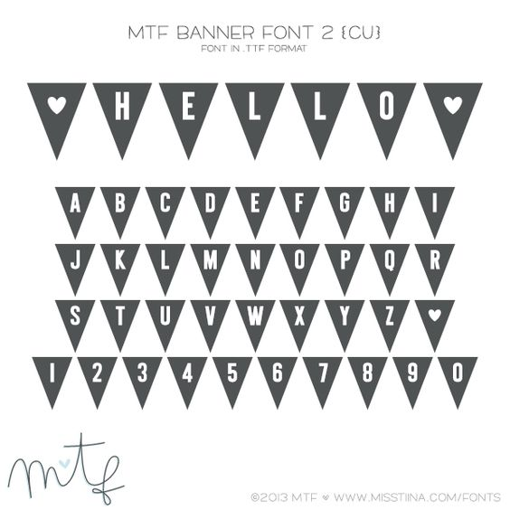 MTF Banner Font 2 {CU} | All Things Fonts and Clip Art | Pinterest ...