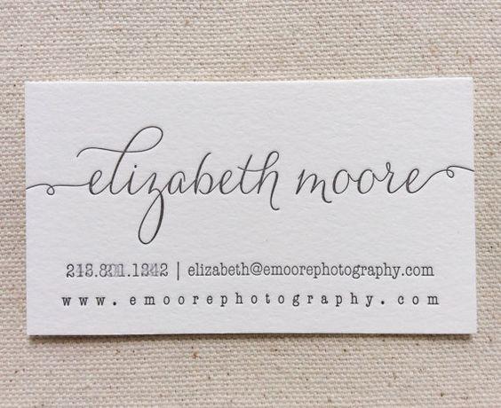 Letterpress Business Cards 1color Custom by DinglewoodDesign